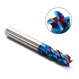 Drillpro 1-10mm 4 Flutes Tungsten Carbide Milling Cutter HRC65 Blue NACO Coated Milling Cutter CNC Tool