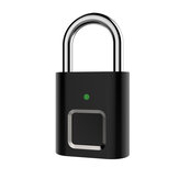 Anytek Smart Fingerprint Lock Security Keyless Padlock For Door Box Bag USB Charging
