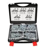 552PCS Kit de parafusos auto-perfurantes de bolso SQ2 Driver quadrado 25/32/38/50 / 63mm Parafusos com bit de chave de fenda e armazenamento Caso