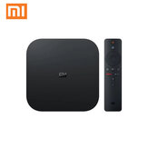 Xiaomi Mi Caixa S 2GB DDR3 8GB 4K Ultra HD HDR Android 9.0 5G WIFI bluetooth 4.2 TV Caixa Streaming Media Player com controle de voz Global Version