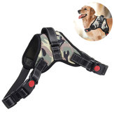 Adjustable Hunting Dog Tactical Vest Nylon Waterproof Pet Puppy Harness Collar Training Traction Rope
