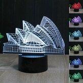 Sydney Opera House 3D Night Light 7 kolorów LED dotykowy przełącznik Lampa stołowa Xmas Gift Decor