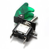 5x Green Car Cover LED SPST Toggle Rocker Switch Control 12V 20A