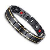 Черный 316L Titanium Здоровье Магнитный браслет для мужчин