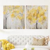 2pcs senza cornice fiore giallo tres quadri su tela 30x30 cm senza cornice casa soggiorno camera da letto decorazione di arte della parete forniture