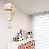 Dormitorio de estilo nórdico para niños, tejido de ratán, aire caliente, Globo, artesanía, decoración colgante para el hogar