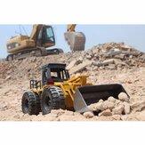 HuiNa Toys1520 Seis Canal 1 / 18RC Escavadora De Metal De Carregamento Carro RC