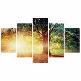 5 Adet Duvar Dekoratif Boyama Ağacı Güneş Sanat Resimleri Tuval Baskılar Ev Ofis Süslemeleri Oturma Odası Yağ Resimleri