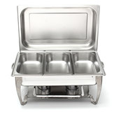 Stainless Steel Square Buffet Stove Furnace Cover Thermal Insulation Dinners BBQ Heating Stove