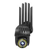 Guudgo 1080P 39 LED Outdoor PTZ IP Black Camera Two Way Audio Wifi Camera Auto Waterproof Night Vision CCTV Video Surveillance
