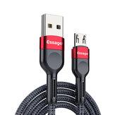 Essgaer 1m / 2m 2,4A micro-USB-snellaadgegevenskabel voor Samsung Huawei OPPO VIVO