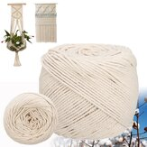 6mm Rope Twisted String Cotton Cord For Handmade Natural Beige Rope for DIY Home Wedding Accessories Gift