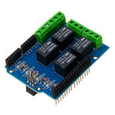 5V 4CH 4 Channel Relay Shield Extended Relay Module Geekcreit for Arduino - products that work with official Arduino boards