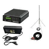 CZERF Trasmettitore FM PLL stereo CZE-15B 0,3-15 W Trasmissione wireless Radio Stazione Regolabile 87-108 MHz Controllo PC Retroilluminazione AMP