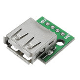 5pcs USB 2.0 Female Head Tomada para DIP 2.54mm Pin 4P Adapter Board