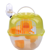 Pet Carring Cage Portable Apple-shaped Hamster Cage Double Deluxe Plastic Outdoor Plastic Hamster Cage