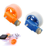 3-6v TT Motor + Rubber Wheel Blue/Orange Color DIY Kit For  Smart Chassis Car Accessories