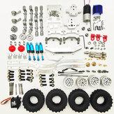 1/16 4WD Kit atualizado de chassi de carro de metal RC sem montagem para peças de DIY de veículos off-road