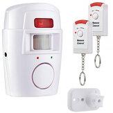 Mini alarme sem fio remoto controlado com detector de movimento infravermelho IR Sensor