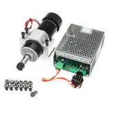 AC 110-220V 500W Air Cooling Spindle Motor with 52mm Clamp and Power Supply Speed Governor
