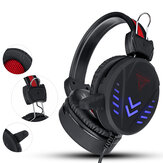 Bakeey 3.5mm Super Pass Gaming Headset Stereo LED Colorful Respiración Lámpara Auricular Hifi Heavy Bass Game Headphone