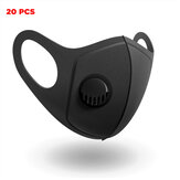 20 Pcs PM2.5 Face Masks Camping Travel Cycling 3 Layer Filter Breathable Anti-dust Mouth Mask