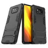 Bakeey Armor Shockproof with Stand Holder PC Protective Case Back Cover for POCO X3 NFC Non-original