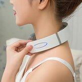 インテリジェントネック電気マッサージャー新しい多機能ホット圧縮振動パルス子宮頸部理学療法機