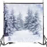 10x10FT Vinyl Winter Snow Lonely Forest Fotografia Tło Studio Prop