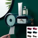 Fali WC-papírtekercs tartó fürdőszoba szövetdoboz adagoló vízálló