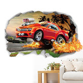Miico 3D Creative PVC Stickers muraux Home Decor murale Art amovible voiture Stickers muraux