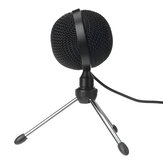 USB Microphone Mini Wired Microphone with Tripod Live Desktop Microphone for Computer Laptop