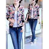 Female Version Floral Printing Cardigan Coats