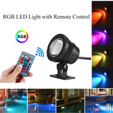 20W RGB luce a led Fountain Pool Pond Spotlight Underwater Waterproof + remoto