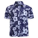 Camisasdemangacortaconestampado floral de hombre