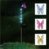 3PCS Solar Powered Butterfly LED Lawn Light Stake Garden Yard Outdoor Landscape Lamp Decor