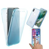Full Body Clear Touch Screen Front and Back Cover Case For iPhone X