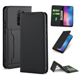 Bakeey for Xiaomi Redmi 9 Case Business Flip Magnetic with Multi-Card Slots Wallet Shockproof PU Leather Protective Case Non-Original