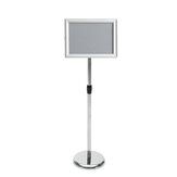 Regolabile A4 Metallo Display Piedistallo Sign Floor Stand Stand Poster Silver HQ