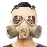 Breathable Gas Mask Double Filter Fan CS Edition Perspiration Dust Face Guard