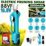 US Plug 2 Baterias Tesoura de poda elétrica recarregável Ferramenta de corte de galhos para jardim