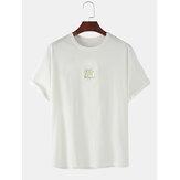 かわいい漫画のアニマルプリントのコットンカジュアル半袖Tシャツ