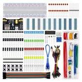 Aoqdqdqd Elektroniczny zestaw do zabawy z modułem mocy, płytka prototypowa 830, precyzyjny rezystor potencjometru dla Arduino, Raspberry Pi, STM32
