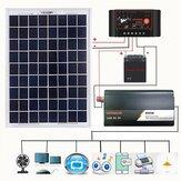 LEORY AC230V 800W Solar Sistema de energía Solar Panel Batería Controlador de carga Solar Kit de inversor Generación de energía completa
