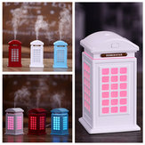 USB LED  British Style Telephone Booth Air Humidifier