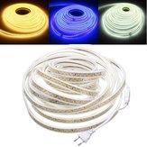 10 M À Prova D 'Água SMD5730 5630 Regulável LED Strip Corda Luz UE Plug para Decoração de Casa AC220V