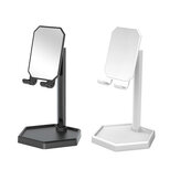 Bakeey Universal Detachable Portable 360° Rotation Mirror Desktop Stand Phone Holder with Storage Commodity Shelf for Samsung