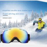 Esqui de escalada adulto unissex Anti-embaçante UV Óculos de proteção à prova de areia de esqui Óculos