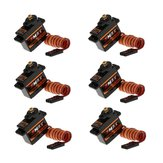 6PCS Emax ES08MDII Metal Digital Micro Servo per RC Airplane