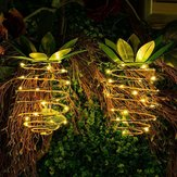 Solar Powered 25 LED Pineapple Light Hanging Fairy String Waterproof for Outdoor Garden Path Decor